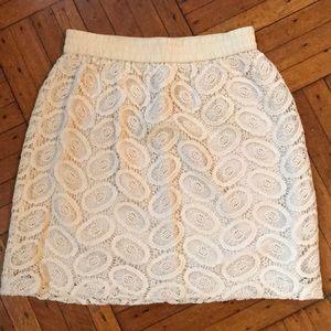 Club Monaco crochet skirt
